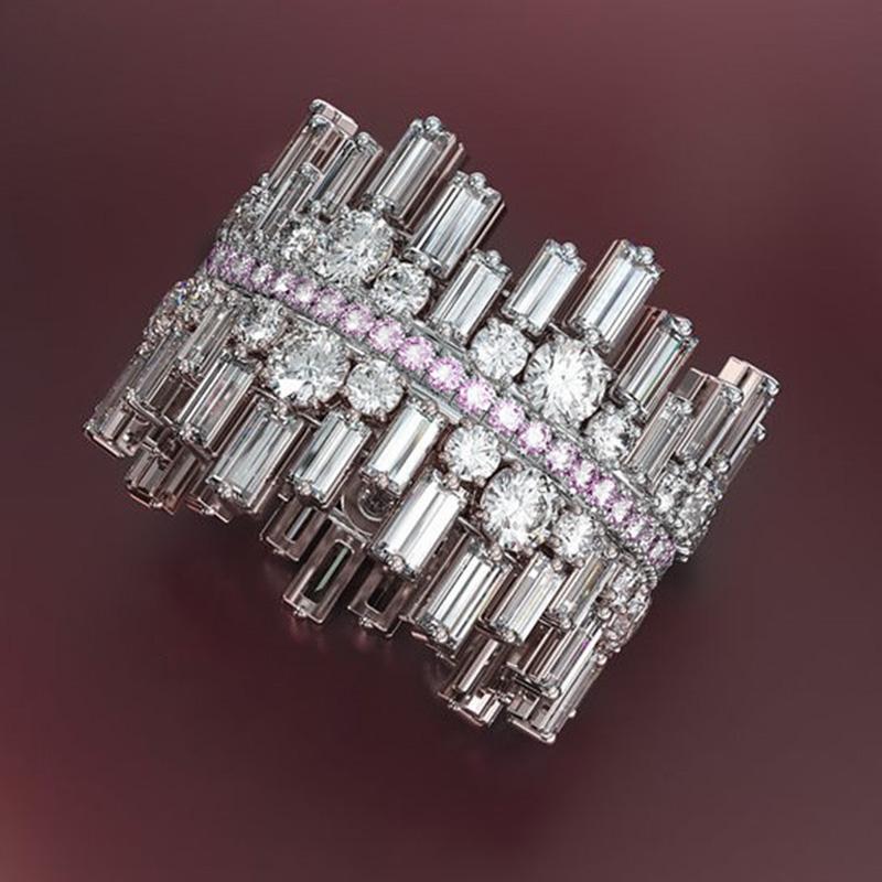 Huitan Luxury Irregularity Shape Love Ring for Women Micro Paved Round Square Cubic Zirconia Wedding Engage Ring Trendy Jewelry