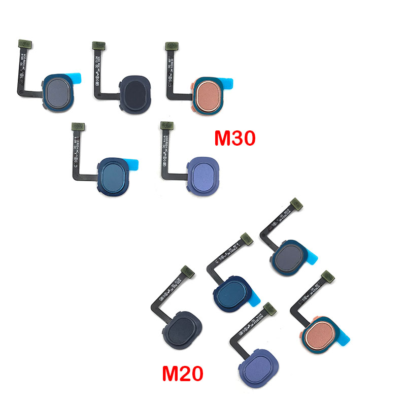 For Samsung M30 M305F M20 M205F Fingerprint Sensor Scanner Touch ID Connect Motherboard Home Button Flex Cable
