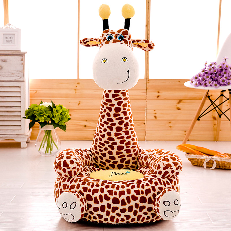 Cute Cartoon Children's Sofa Baby Chair Cushion Plush Fabric Toys Lazy Boys And Girls Birthday Gifts