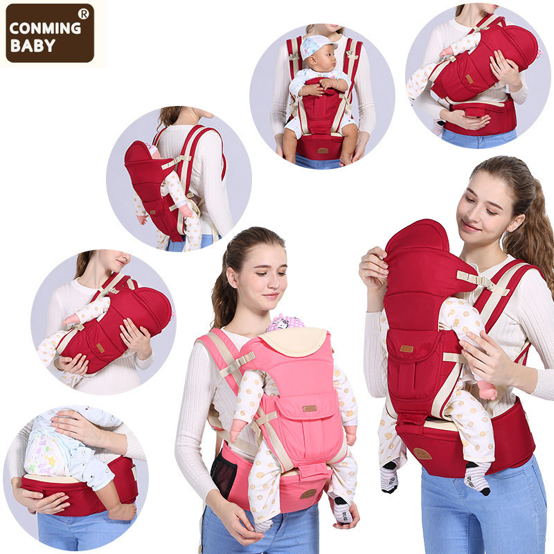0-36 Months Kangaroo Ergonomic Hipseat Baby Carrier Infant Hipseat Sling Hip Waist Stool Seat Backpack Wrap For Newborns Mom