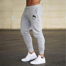 2019 Summer Men #8217 s Gym Training Jogging Pants Men Joggers Slim Fit Soccer Sweatpants Cotton Workout Running Tights Sport Trousers cheap GYM ENERGY Full Length 638101 Casual Flat Midweight PATTERN Twill REGULAR 30 - 40 Drawstring
