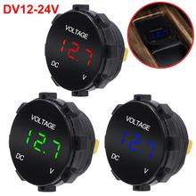 DC 12V-24V Digital Panel Voltmeter Voltage Meter Tester Led Display For Car Auto Motorcycle Boat ATV Truck Refit Accessories black 60mm gps digital speedometer 12v 24v odometer gauge car motorcycle atv marine boat truck