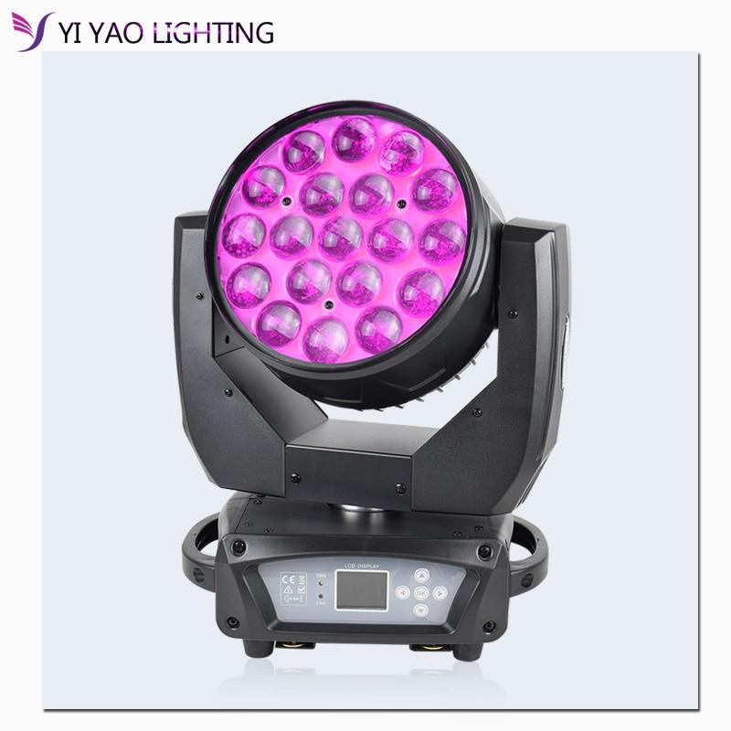 LED Moving Head Beam Spot Lighting RGBW 19x15W Beam Led Dmx Perfect For Mobile DJ Party Nightclub