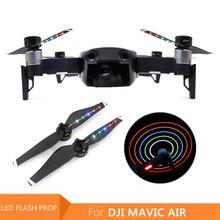 4 pièces USB chargeur LED Flash nuit vol hélices lame pour DJI Mavic Air 5332/5333 LED hélices pales Drones accessoires