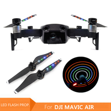 4pcs di Ricarica USB Flash LED di Notte di Volo Eliche Lama per DJI Mavic Air 5332/5333 LED Pale Dellelica Droni Accessori