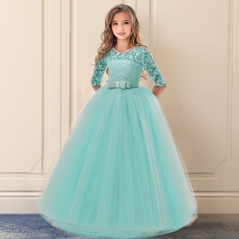 Girls Ceremony Dress for Wedding and Party Gown Exquisite Communion Luxury Princess Dress Elegant Lace Girls New Year Costume 5