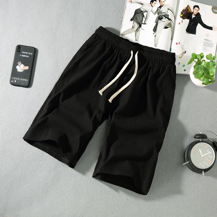 Men's Summer Large Shorts Plus Size L-5XL 6XL Casual Linen Shorts Male Drawstring Knee Length Short Trousers Chinese Style