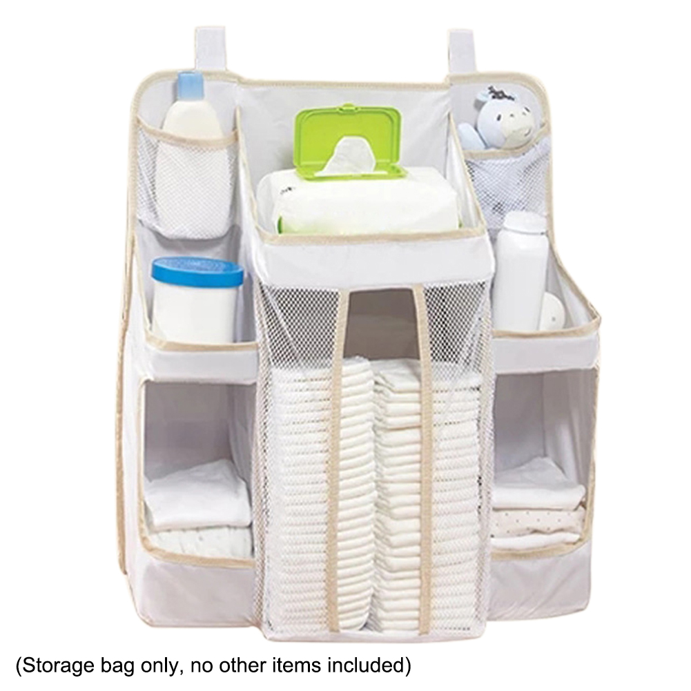 Portable Baby Bed Hanging Storage Bag Waterproof Toy Diapers Bag Useful Bedside Organizer Infant Crib Bedding Set