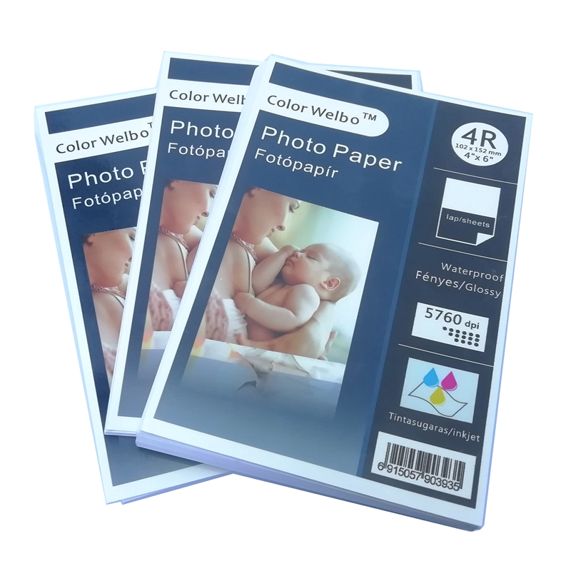 240gsm Glossy Inkjet One Side Craft Digital Image Resin Coated Photographic Output Glossy 4R Photo Paper 4x6