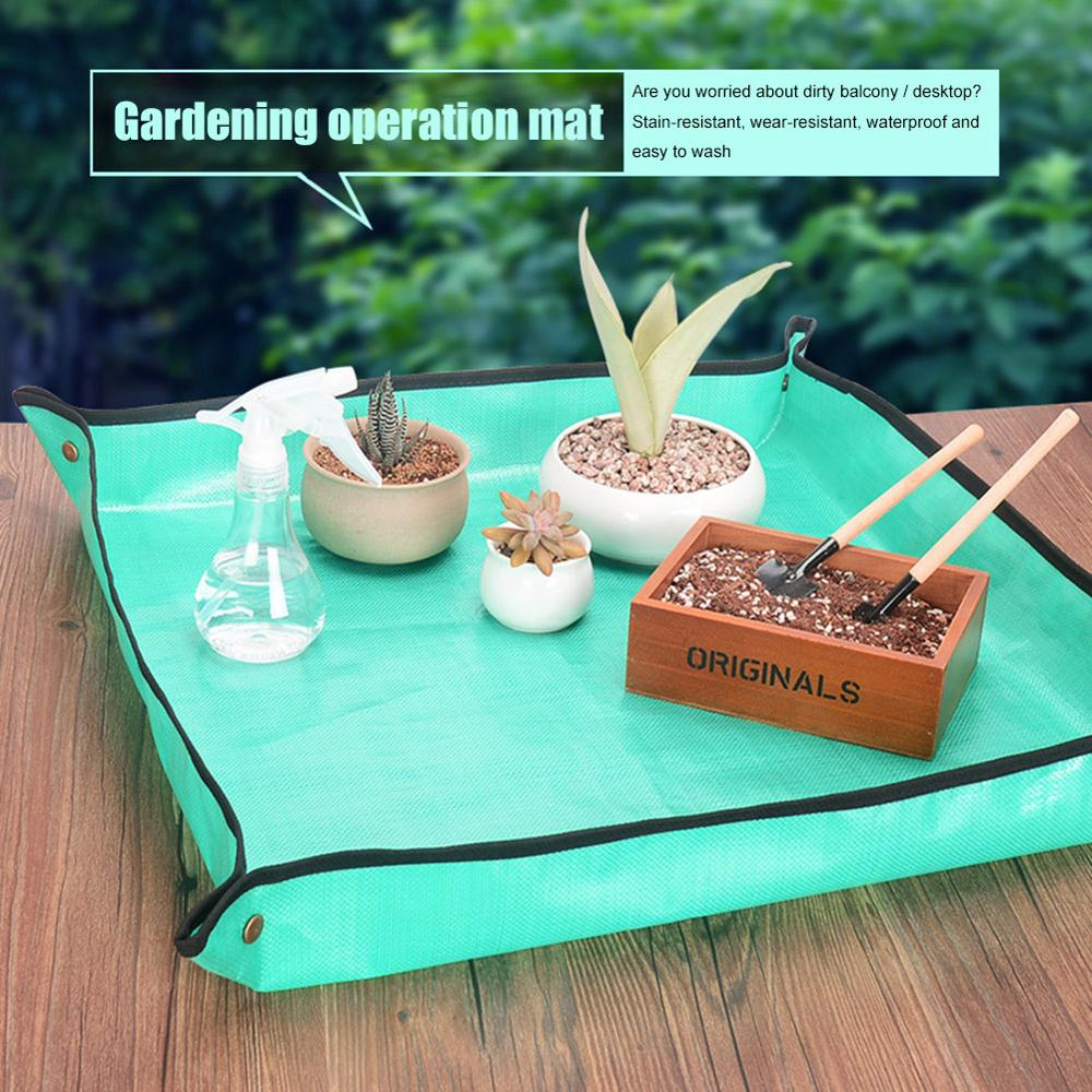1 X 1meter Plant Change Thicken Pad Reusable Waterproof Basin Land Cushion Square Gardening Mix Soil Lock Design Mat Flower Pot(China)
