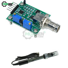 PH4502C 0-14 PH Meter Wert Detektor modul Erkennung Hydrokultur Sensor Modul Überwachung Controller BNC Block Elektrode Sonde