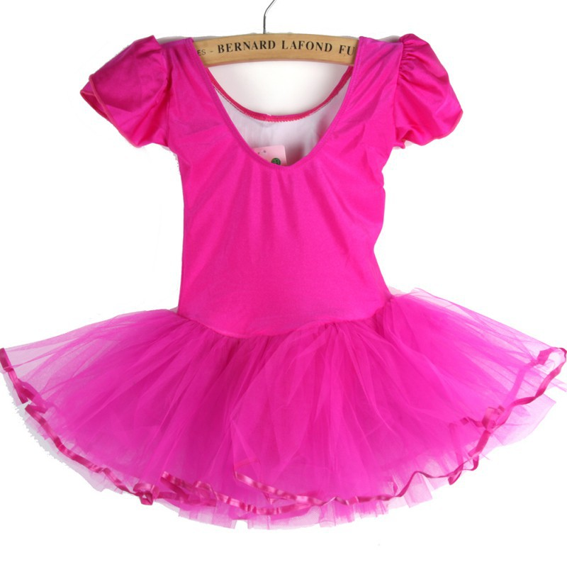Kids Girls Dress Kids Baby Candy Color Tutu Dress Dance Costumes Ballet Dancewear 3-7Y Children