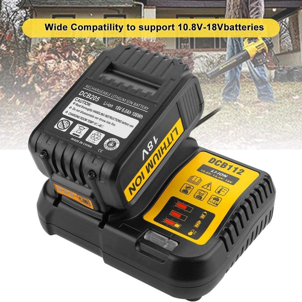Зарядное устройство для литий-ионных аккумуляторов DCB112 для Dewalt, 10,8 В, 12 В, 14,4 В, 18 в, Dcb101, Dcb200, Dcb140, Dcb105, Dcb200