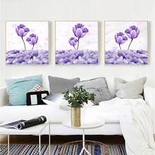 Abstract Painting Poster Nordic Decoration Home Wall Art Purple Flower  Posters And Prints Decorative Pictures