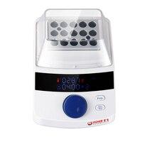 Incubadora de banho seco de foure com 15x1.5ml bloco de aquecimento display led  precisão de alta temperatura  controle de temporização para laboratório