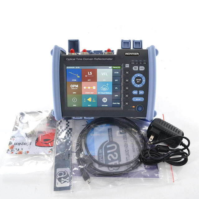 NOVKER NK6000 1310/1550/1625nm 38/35/35dB Multifunction Optic Fiber 1625 PON OTDR Tester With VFL OPM Light Source