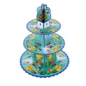 Мультфильм Пикачу Pokemon день рождения одноразовые украшения, набор посуды, бумажные стаканы, бумажные тарелки, Детские праздничные принадле...