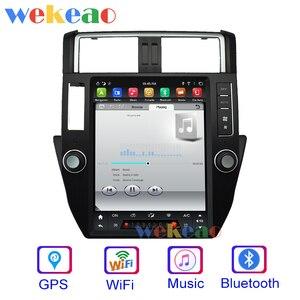 Image 3 - Wekeao tela vertical tesla estilo android 9.0 carro dvd reprodutor multimídia para toyota prado carro automotivo estéreo 4g 10 13