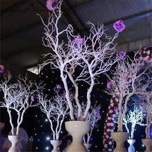 Branche d'arbre de corail en plastique 92cm bricolage route de mariage leader décor de jardin de maison mur de fleurs Branches de corail blanches plantes décor mural
