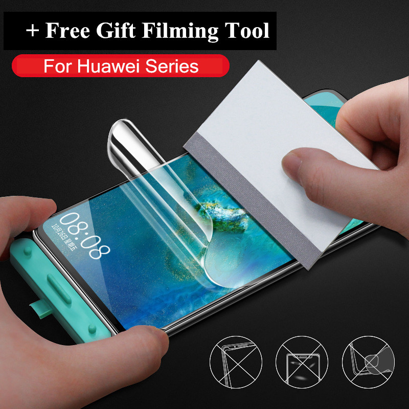 Hydrogel Film For Huawei P30 P20 P40 Mate 20 Pro Lite E P30pro P20pro Full Curved Screen Protector For Honor 10 Lite (Not Glass)(China)