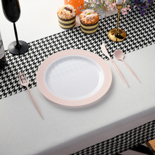 Plastic Plates Disposable for Holiday Party Restaurant Outdoor Cutlery of And New-Style