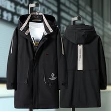 Chaqueta de estilo informal para hombre, abrigo masculino de estilo gabardina de moda, temporada primavera, talla grande 10XL, 9XL, 8XL, 7XL, 6XL