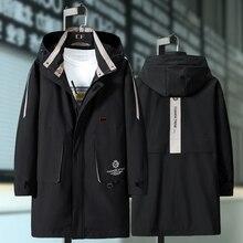 Mais 10xl 9xl 8xl 7xl 6xl jaqueta masculina casaco de moda trench coat nova marca primavera casual ajuste casaco outerwear masculino