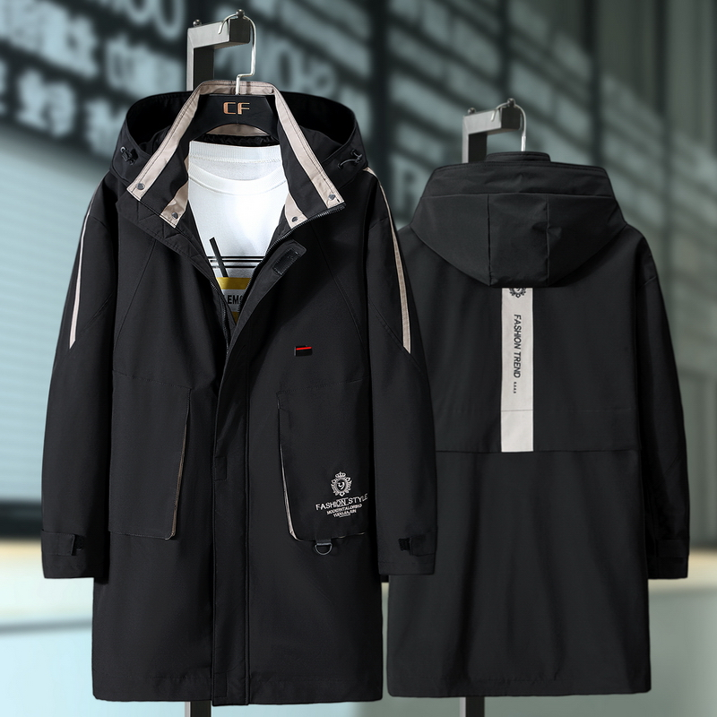 Plus 10XL 9XL 8XL 7XL 6XL Men Jacket Coat Fashion Trench Coat New Spring Brand Casual Fit Overcoat Jacket Outerwear Male