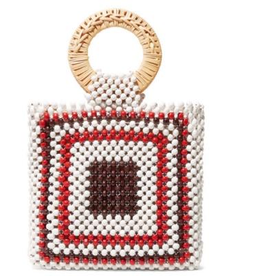 NEW Handmade Wooden Bead Bags Women Bucket Bag Totes Top Handle Beaded Handbags Bride Bag Purses Evening Party Clutches
