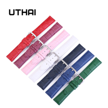 UTHAI Z11 New Watch Bracelet Belt Woman Watchbands Genuine Leather Strap Watch Band 10-24mm Multicolor Watch Bands cheap Pin buckle New with tags Other