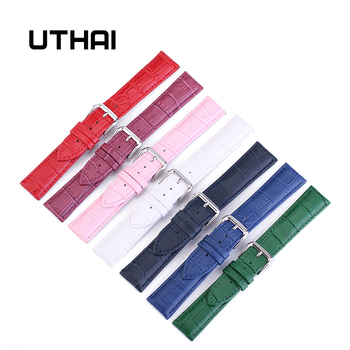 UTHAI Z11 New Watch Bracelet Belt Woman Watchbands Genuine Leather Strap Band 10-24mm Multicolor Bands - discount item  50% OFF Watches Accessories