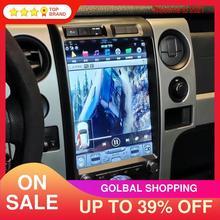 """13 """"포드 랩터 F150 9.0 2009 용 안드로이드 2014 64 + 4 테슬라 스타일 자동차 GPS 네비게이션 자동 라디오 스테레오 멀티미디어 플레이어 헤드 유닛"""