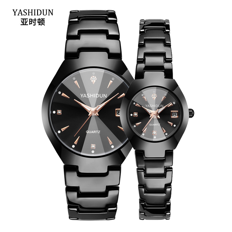 Valentine's Romantic Couple Watches His And Hers Quartz Analog Wrist Watches Gifts Set For Lovers Set Of Two