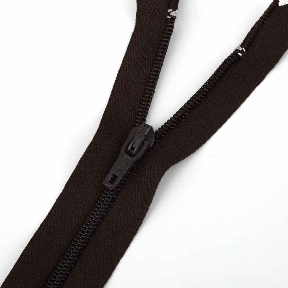 Nuevas y encantadoras cremalleras de nailon ideales para fijar faldas haciendo regalos monederos de bobina de nailon cerrada cremalleras de costura a medida