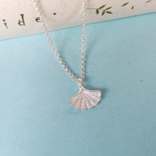Ginkgo Leaf 999 Sterling Silver Pendant Necklace Women Accessories Chain Bohemian Luxury Jewelry Boho Handmade Ethnic
