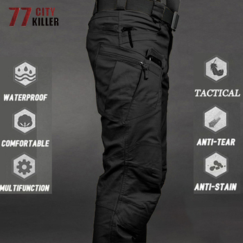 New Military Tactical Pants Waterproof Cargo Pants Men Breathable SWAT Army Solid Color Combat Trousers Work Joggers Size S-6XL