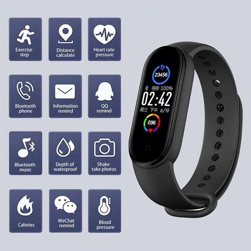 M5 смарт-браслет IP67 водонепроницаемые спортивные Смарт-часы для мужчин и женщин кровяное давление монитор сердечного ритма фитнес-браслет д...