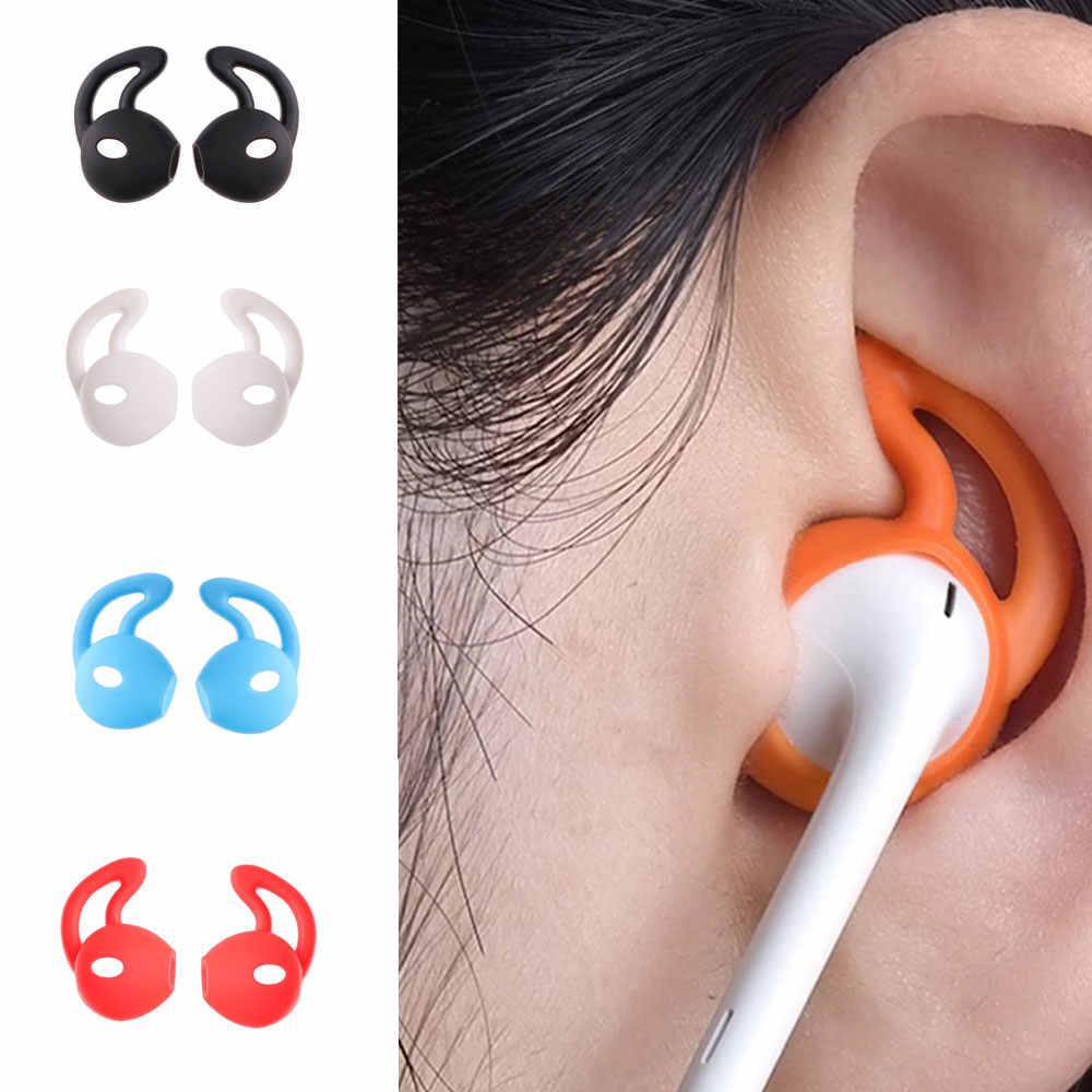 2 זוגות סיליקון אוזניות מקרה אוזן כנפי וו כובע Earhook כסה עבור Apple iPhone Airpods ספורט אביזרי iPhone 6 7 8 11