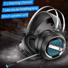 Headset Wired Over-Ear Gaming Headphones 3 5MM USB Breathing Light Deep Bass Stereo Casque With Microphone For PC Laptop-Gamer cheap CUGUU Dynamic CN(Origin) 100dB None For Internet Bar for Video Game Common Headphone For Mobile Phone HiFi Headphone Line Type