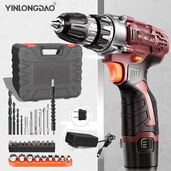 18V Lithium drill Electric Screwdriver Cordless Drill  Lithium-Ion Battery Wireless Power Driver DIYTorque drill Power Tools