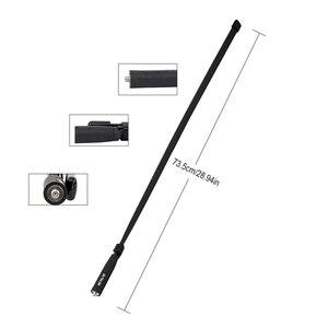 Image 2 - Retevis HA02 składana antena taktyczna SMA F Airsoft gra antena walkie talkie dla Baofeng UV 5R UV 82 Ailunce HD1 RT29 H777