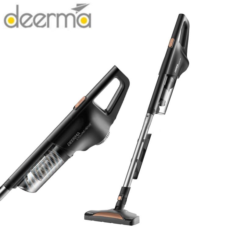 Youpin deerma dx600 preto vertical aspirador de pó luz e super sucção handheld pequeno aspirador doméstico