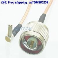 """EMS/DHL 50 piezas N macho enchufe a TS9 macho enchufe ángulo recto RG316 Jumper pigtail 8 """"cable 22j Accesorios de batería y accesorios de cargador     -"""