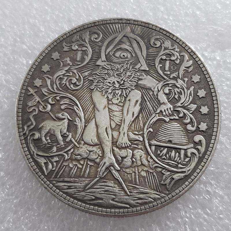 NEW Hobo Gold Eye Nickel USA Morgan One Dollar COIN COPY Type Commemorative Coin Eagle Claw Collection Coin Morgan Dollar