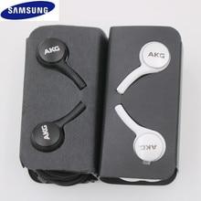 Samsung سماعات أذن سلكية مع التحكم في مستوى الصوت وميكروفون ، 3.5 مللي متر ، لـ AKG Galaxy S10E S9 S8 S7 S6 Plus Note 8 9 A50 ، أصلي