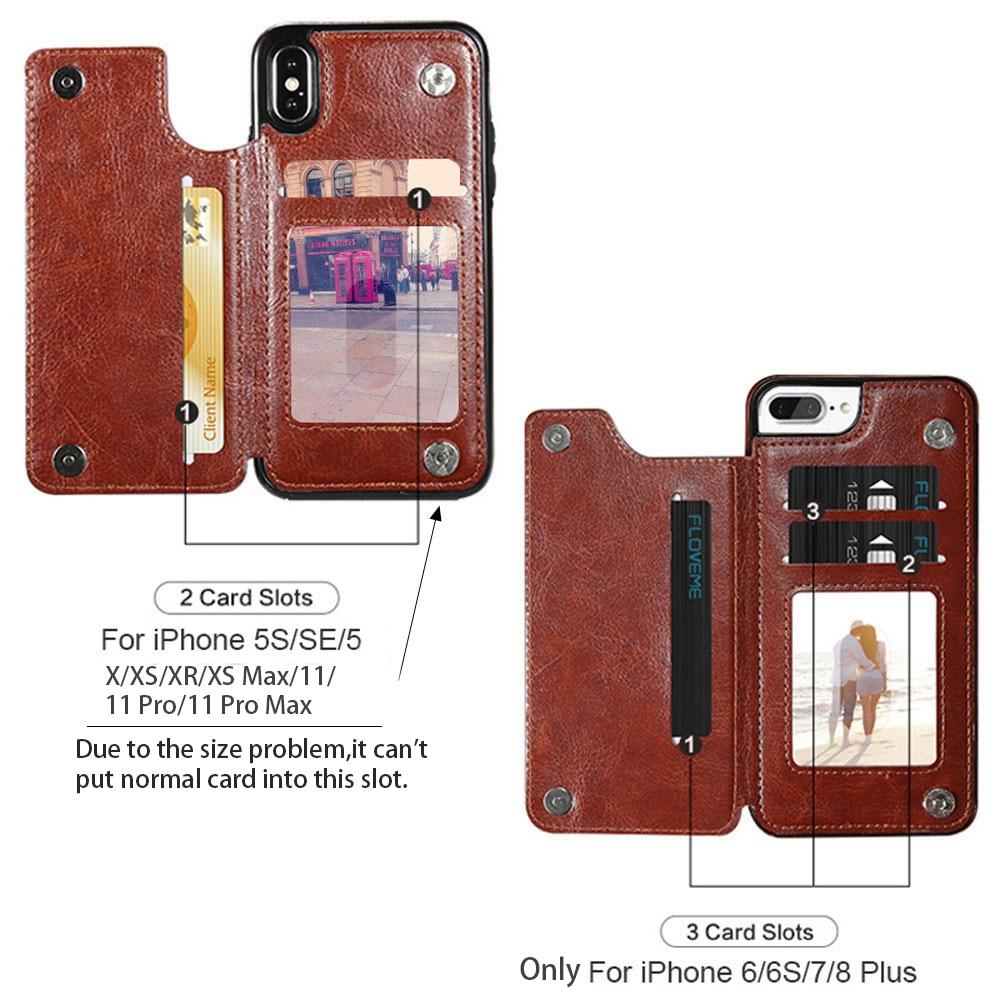 KISSCASE Wallet Cases für iPhone 11 Pro Max 6S 6 7 8 Plus XS Max - Handy-Zubehör und Ersatzteile - Foto 2