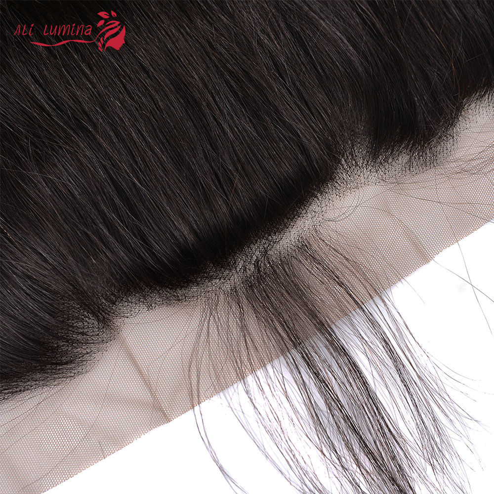 Straight  Lace Frontal Closure 13x4 Swiss Lace 100% Human  Hair Natural Hairline 4X4 Lace Closure 3