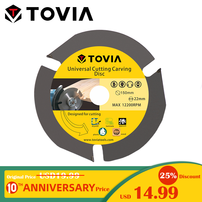 TOVIA 150mm Circular Saw Blade Multitool Grinder Saw Disc Carbide Tipped Wood Cutting Disc Wood Cutting Power Tool Accessories