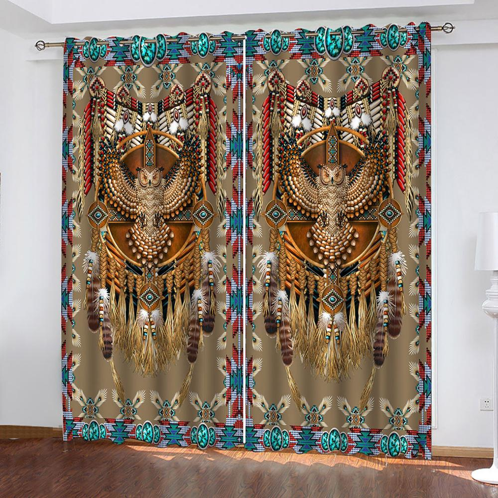 3D Luxury Curtains Printing Curtains For Living Room Bedroom Photo Drapes For Kitchen Door Window Curtain