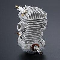 DRELD 1Pc 49.5mm Cylinder Piston Crankshaft Spark Plug Set FIT For STIHL 023 025 MS230 MS250 Chainsaw Engine Garden Power Tools